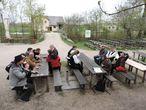 Einkehr am Bauernhaus mit Wirtschaft aus Treuchtlingen im Fränkischen Freilandmuseum Bad Windsheim