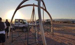 Spannender Holzbau in Namibia