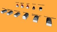 Gebogene Dachformen und Turmdächer