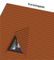 Die Dreiecks- oder Spitzgaube bietet den geringsten Raumgewinn.