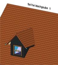 Die Satteldachgaube kommt nach der Schleppgaube wohl am häufigsten vor.