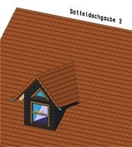 Die Satteldachgaube mit zusätzlichem Fenster im Giebeldreieck.