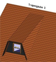 Die aufwändigere Variante der Trapezgaube mit Kehlsparren bietet innen deutlich mehr Raum.