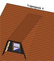 Bei dieser Trapezgaube laufen die Schifter parallel zum Schleppdach. Dies bietet Vorteile hinsichtlich der Dacheindeckung.